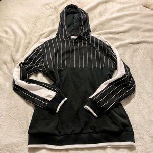 Topshop Striped Hoodie
